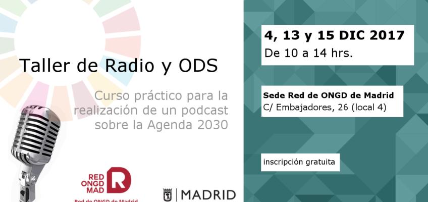 4, 13 y 15 DIC | Taller de Radio y ODS