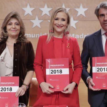 Nota de prensa | Aprobación definitiva Presupuestos 2018 Comunidad de Madrid