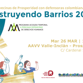 26 MAR | Encuentro de defensoras colombianas con vecinas Prosperidad