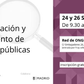 24 y 26 SEP | Taller sobre comunicación y seguimiento de políticas públicas