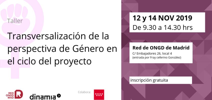 12/14-NOV | Taller sobre la Transversalización de la perspectiva de Género en el ciclo del proyecto